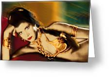 Princess Leia Star Wars Episode Vi Return Of The Jedi 1 Greeting Card by Tony Rubino