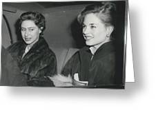 Princess Margaret At The Theatre Greeting Card