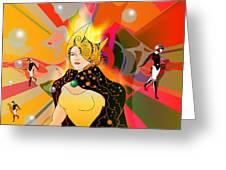Princess Of Lightbeams Greeting Card