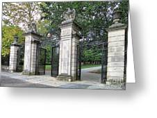 Princeton University Main Gate Greeting Card