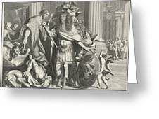 Print Of Aegidius Le Maistre 1665, Upper Part Greeting Card
