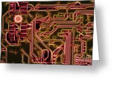 Printed Circuit - Motherboard Greeting Card by Michal Boubin