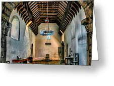 Priory Church Of St Seiriol Greeting Card by Adrian Evans