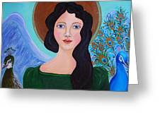 Priscilla  The Balancing Angel Of Love Greeting Card