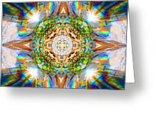Prism Rainbow Mandala Greeting Card