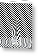 Prism Stripes 1 Greeting Card