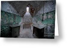 Prison Cell At Eastern State Penitentiary Greeting Card