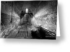 Prison Cell Black And White Greeting Card