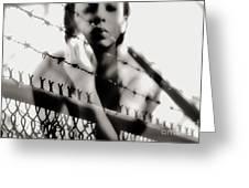 Prisoner Of My Own Greeting Card