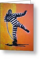 Prisoner Shotput Greeting Card
