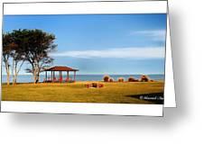Private Beach Greeting Card