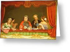 Private Box, Drury Lane, 1837 Greeting Card