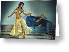 Private Dancer Greeting Card