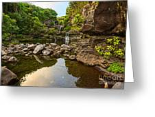 Private Pool Paradise - The Beautiful Scene Of The Seven Sacred Pools Of Maui. Greeting Card