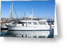 Private Yacht Greeting Card