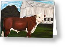 Prize Bull Greeting Card