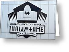Pro Football Hall Of Fame Greeting Card