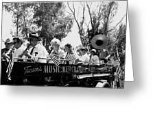 Pro-viet Nam War March Beaver's Band Box Musicians Tucson Arizona 1970 Black And White Greeting Card