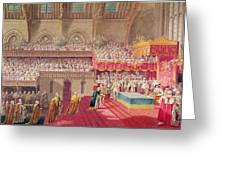 Procession Of The Dean And Prebendaries Of Westminster Bearing The Regalia, From An Album Greeting Card