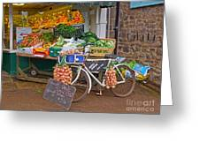 Produce Market In Corbridge Greeting Card
