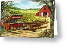 Produce Stand Greeting Card