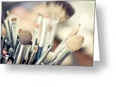 Professional Makeup Brush Greeting Card
