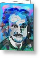Professor Einstein Greeting Card