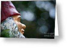 Profile Of A Garden Gnome Greeting Card