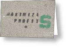Profit Greeting Card