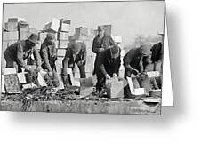 Prohibition Feds Destroy Liquor  1923 Greeting Card by Daniel Hagerman