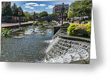 Promenade And Waterfall In Carroll Creek Park In Frederick Mary Greeting Card