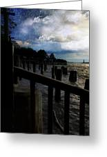 Promenade At The Hudson River New York City Greeting Card