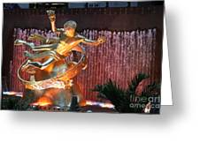 Prometheus Statue - Rockefeller Center Nyc Greeting Card
