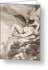 Prometheus Tortured By A Vulture Greeting Card