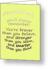 Promise Me - Winnie The Pooh - Yellow Greeting Card
