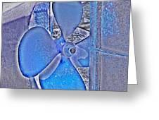 Propeller Blue Greeting Card
