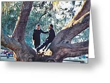Proposing In A Tree Greeting Card