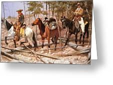 Prospecting For Cattle Range Greeting Card