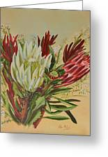 Protea Bunch Greeting Card