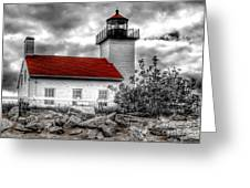 Protector Of The Harbor - Sand Point Lighthouse Greeting Card