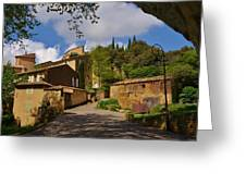 Provencal Village Greeting Card