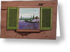 Provence Lavander Fields Original Acrylic Greeting Card