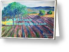 Provence Lavender Field Greeting Card