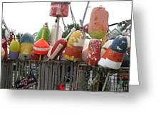 Provencetown Lobster Buoys Greeting Card