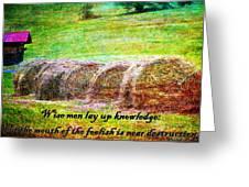 Proverbs 10 14 Greeting Card