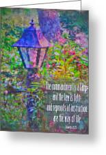 Proverbs 6 23 Greeting Card
