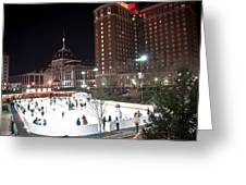 Providence On A Cold December Evening Greeting Card
