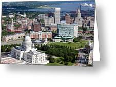 Providence Rhode Island Downtown Skyline Aerial Greeting Card