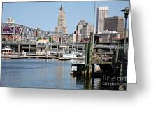Providence River And Point St Bridge Greeting Card