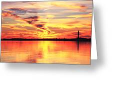 Provincetown Harbor Sunset Greeting Card